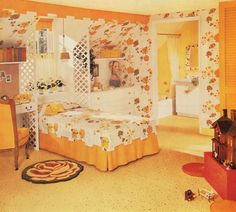 A teen-age girl gets her very own room. 1950s