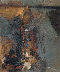 Kantor Tadeusz Untitled, ca. Samuel Beckett, August Strindberg, Agra, Painting, Polish, The Outsiders, Centre, Vitreous Enamel, Painting Art