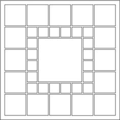 Pattern #78 - Have a lot of photographs from an event or a busy month? This layout is perfect! Print pictures 1x1 or Thumbnail size to get 1 in. photographs to go around the Square Center. Click on this image to see a page example.