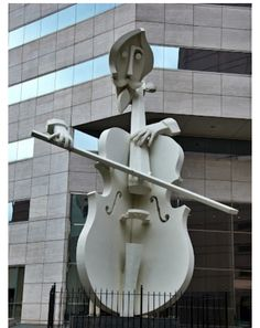 Virtuoso Sculpture. Located in front of the Lyric Center Building. Houston, Texas. Photo by Andy New. - See more at: http://racomavl.com/funny-architecture/7550-virtuoso-sculpture-located-in-front-of-the-lyric-center-building-houston-texas-photo-by-andy-new.html#sthash.1FuZjm4Q.dpuf