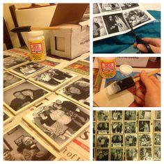 How to make decoupage tile coasters...