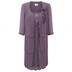 KIRSTEN KROG MULBERRY DRESS AND COAT - Plus Size Collection
