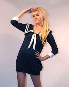Sailor Dress MADE TO ORDER by imyourpresent on Etsy, $82.00