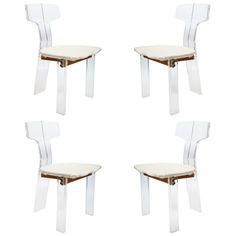 1stdibs - A set of 1960's  Modernist Lucite Chairs explore items from 1,700  global dealers at 1stdibs.com