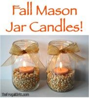 Spruce up your Fall Mantel this Autumn with some fun Fall Mason Jar Candles! In addition to these Faith, Hope, and Love Mason Jar Candles, you'll love these festive Fall Mason Jar Candles, full of . Fall Mason Jars, Mason Jar Candles, Diy Candles, Fall Candles, Homemade Candles, Scented Candles, Christmas Candles, Homemade Gifts, Mason Jar Projects