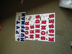 Homecoming sign