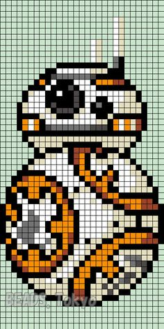 BB-8 Star Wars: The Force Awakens Perler Bead Pattern - BEADS.Tokyo