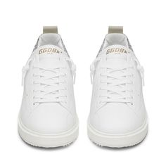 Golden Goose Wmns Starter Sneaker (1.920 BRL) ❤ liked on Polyvore featuring shoes, sneakers, golden goose, golden goose trainers, golden goose shoes and golden goose sneakers