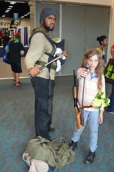 Tyreese and Lizzie from The Walking Dead Cosplay