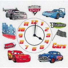 Cars Clock Cross Stitch Kit