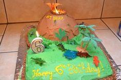 Active Volcano Dinosaur Cake