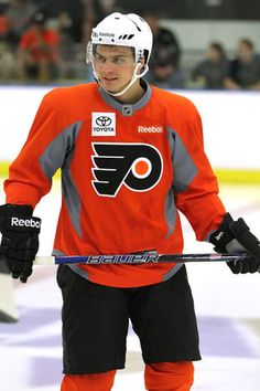 The Flyers pick in the draft , Scott Laughton, worked out with the other Flyers prospects Monday morning at the Skate Zone. One of my favorite times of the pre-hockey season. Flyers Hockey, Philadelphia Sports, Hockey Season, First Round, Nhl, Motorcycle Jacket, Monday Morning, Athletes, Skate