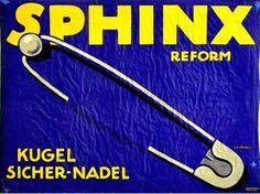 By Klaus G. Richter, 1 9 1 5, Sphinx Reform, Imp. Curt Behrends, Berlin. (G)(Plakatstil)