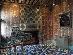 Blois Castle interior, music room