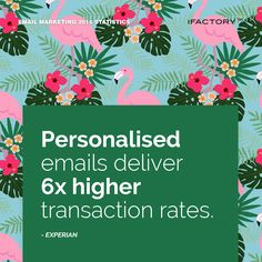 Personalised emails deliver 6x higher transaction rates. #ifactory #ifactorydigital  #emailmarketing #digitalmarketing #digital #edm #marketing #statistics  #email #emails