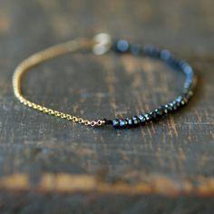 Onyx noir perles Bracelet Bracelet de pierres par ShopClementine