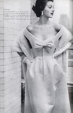 Ciao Bellísima - Vintage Glam; Model wearing Givenchy; Photo by Henry Clarke, 1954