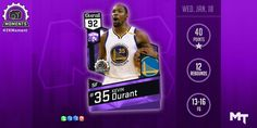 Kevin Durrant's NEW Amethyst #2KMoment card!