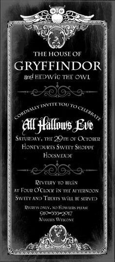Invitation . Harry Potter Deathly Hallows by LoraleeLewis on Etsy, $39.00