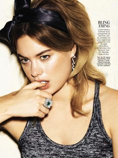 Camille Rowe tries a modern-day bouffant hairstyle with sparkling gems from Dior Joaillerie