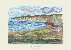 Hannah Dunnett Artwork: God of all comfort Hannah Dunnet makes pictures from bible verses.