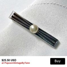 Art Deco SWANK Tie Clip Vintage Geometric Tie Clip 50s 60s Swank Tie Bar Mens Wedding Jewelry Art Deco Tie Accessory Mid Century Mad Men Era