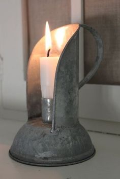 Galvanized Candle Carrier