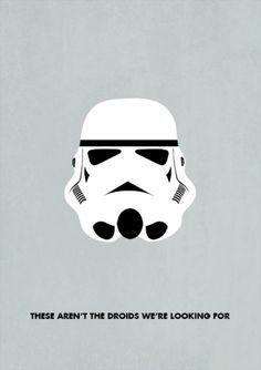 Stormtrooper - minimalist Star Wars illustration | By: Kevin Bogan