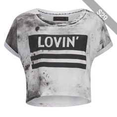 Religion Women's 'Lovin Religion' T-Shirt - White/Black