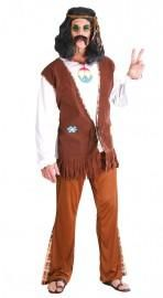 This men's Flower Hippie Costume features a brown fringe vest and trousers with psychedelic trim edging. Complete this groovy hippie fancy dress outfit by adding the included funky beaded headband. Jesus Costume, Cop Costume, 1960s Costumes, Green Costumes, Men's Costumes, Adult Costumes, Hippie Outfits, Charlie Chaplin Costume, Woodstock