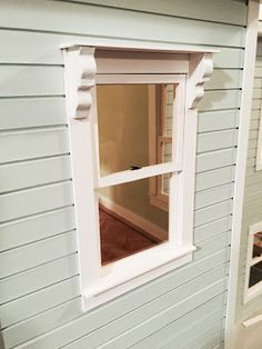 Dollhouse windows. The latches really make it look real. Instructions given in this blog post.