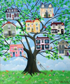 Paintings by  Cellia Saubry French Naive Artist