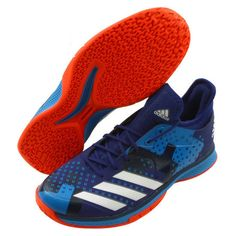 pretty nice 0f1d9 848a1 adidas Counterblast Bounce Badminton Shoes Unisex Blue Indoor Racquet NWT  B22572