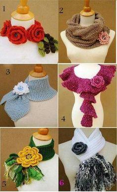 48 Super Ideas for crochet shawl and wraps cowl neck Crochet Scarf Easy, Crochet Shawls And Wraps, Crochet Scarves, Crochet Clothes, Crochet Hats, Knit Headband Pattern, Knitted Headband, Crochet Flower Patterns, Crochet Flowers