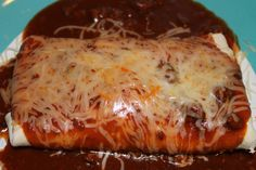 Ultimate Wet Burritos on MyRecipeMagic.com. We were leery about the sauce, but it was great. Slight spice, but not hot.