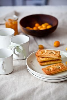 "Kumquats and Almond Tea Cakes, adapted from Hidemi Sugino's ""The Dessert Book""."