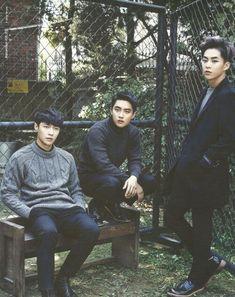 EXO D.O, Lay, And Xiumin 🔥 _ _ Tags: exo imissyou beautiful handsome korea southkorea do exodo kyungsoo lay exolay yixing yixingzhang exoxiumin xiumin kimminseok exol kpopidol kpop ❤️ astronaut_top Exo Ot12, Kaisoo, Chanyeol Baekhyun, Exo Group, Korea, Kim Minseok, Exo Members, Kpop, Yixing