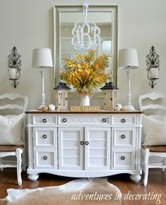 Farmhouse Bedroom Dresser Decor With Tv Ideas For 2019 Decor, Bedroom Dressers, Interior, Living Room Decor, Dresser Decor Bedroom, Home Decor, House Interior, Furniture Makeover, Buffet Decor