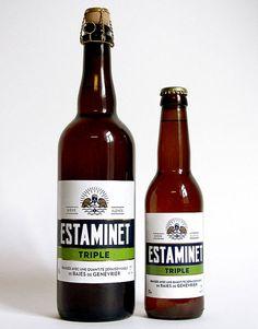 Estaminet Triple Label bottl, beer, cider, brew, apero, bier, adorn, cerveza, belgian