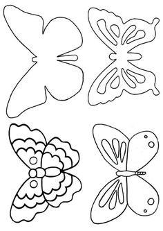 kerli: little animals, handicrafts and recycling: Tutorial: Have butterflies flying on your ceiling! kerli: little animals, handicrafts and recycling: Tutorial: Have butterflies flying on your ceiling! Butterfly Template, Butterfly Crafts, Butterfly Art, Crown Template, Butterfly Mobile, Heart Template, Flower Template, Printable Butterfly, Felt Butterfly Pattern