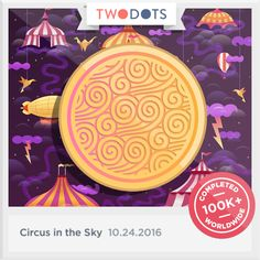 I won Zephyr's Badge from the Circus in the Sky. It'll take me anywhere! - playtwo.do/ts #TwoDots