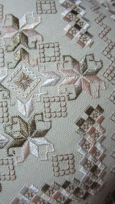 Awesome Most Popular Embroidery Patterns Ideas. Most Popular Embroidery Patterns Ideas. Hand Embroidery Videos, Types Of Embroidery, Learn Embroidery, Embroidery Techniques, Hardanger Embroidery, Cross Stitch Embroidery, Cross Stitch Patterns, Broderie Bargello, Embroidery Designs