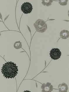 Mod Floral Wallpaper by Brewster. Find this pattern at AmericanBlinds.com.