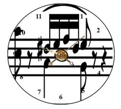 Musical Notes CD Clock  Can Personalize Send Pic Great Gift