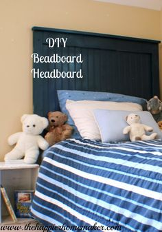 Dress up your children's bedrooms with a DIY beadboard headboard. It's a stylish way to make their rooms feel more sophisticated as they grow up!