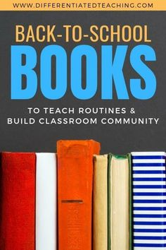 These books are perfect for starting out a new school year. This list of 26 back to school books will help you get started teaching routines and procedures and help build classroom community.