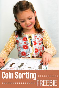 Sorting activities are the perfect first step in teaching money skills. Use this coin sorting freebie to help children identify the coins. Numeracy Activities, Hands On Activities, Teaching Time, Teaching Reading, Coin Sorting, Learning Money, Counting Money, Subitizing, Kindergarten Learning