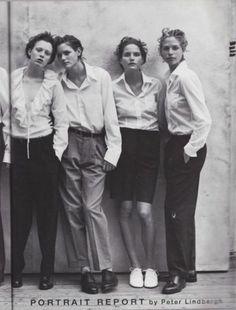 audreylostinparis:  magazine: Vogue Italia May 1997editorial: Portrait Reportphotographer: Peter Lindberghstyling: Anna Dello Russohair: Odi...