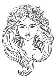 Find Image Girl Wreath Lines Vector stock images in HD and millions of other royalty-free stock photos, illustrations and vectors in the Shutterstock collection. Thousands of new, high-quality pictures added every day. Adult Coloring Pages, Find Image, Mandala, Royalty Free Stock Photos, Wreaths, Illustration, Pictures, Face, Flowers
