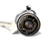 Camera Lens Keychain  Camera Keyring Camera by GirlPowerPendants